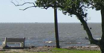 Light chop on Lake Pontchartrain