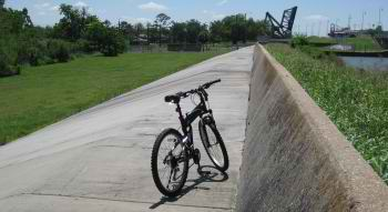 X50 folding bike near the 9th Ward levee breach site